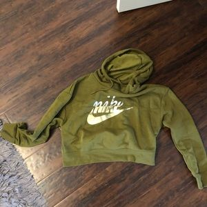 Olive green Nike sweatshirt
